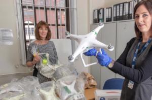 Artikel omtrent drones en drugs in de gevangenis van de UK